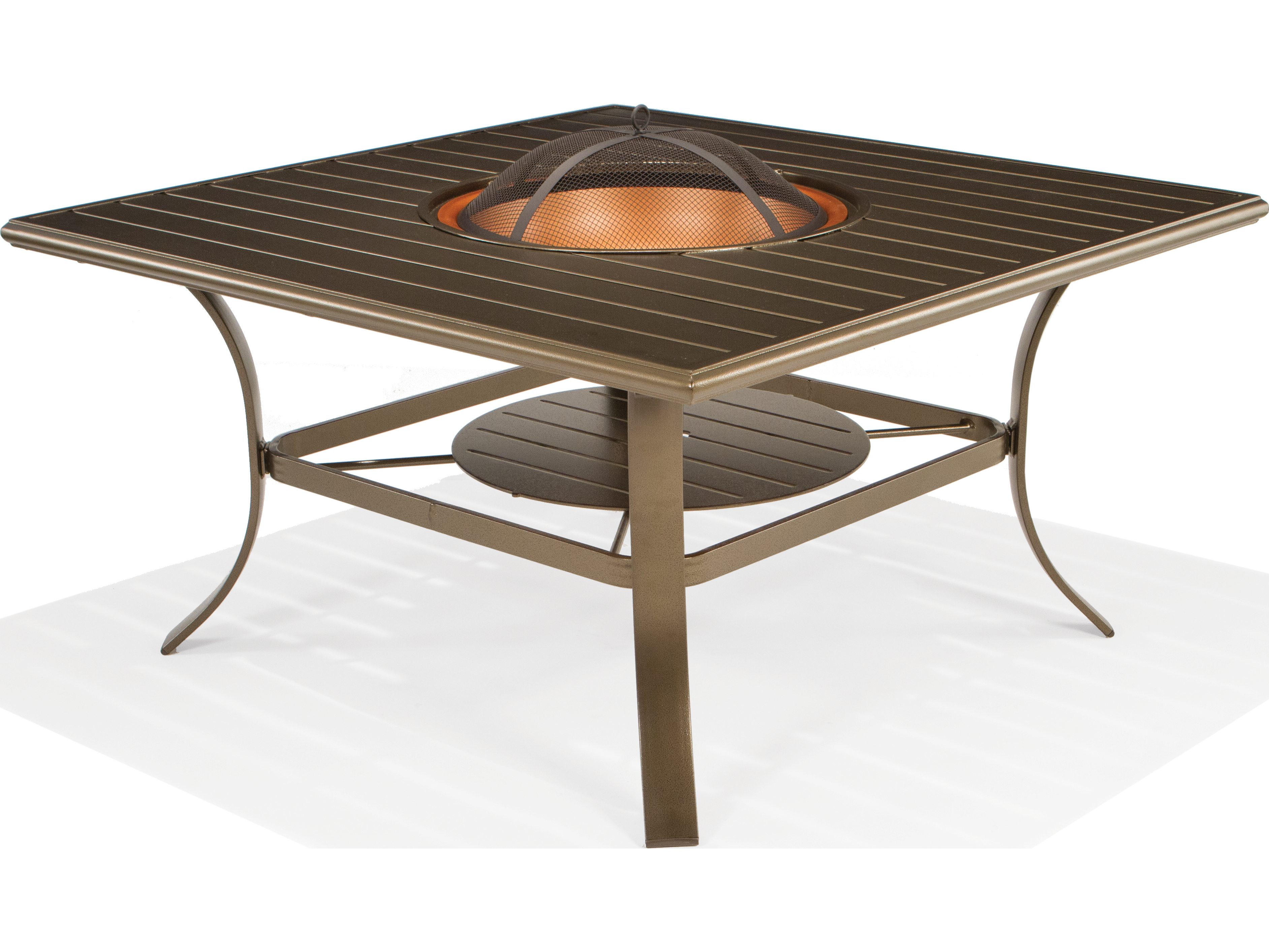 square fire pit table winston cast aluminum 48 square wood burning pit 30218