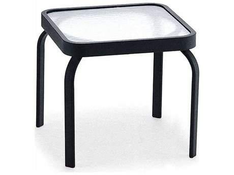 Winston Obscure Glass Aluminum 18.75'' Square End Table PatioLiving