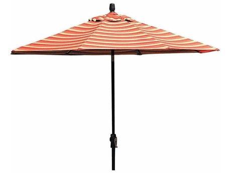 Winston 9' Aluminum Market Automatic Tilt Umbrella with Aluminum Champagne Pole