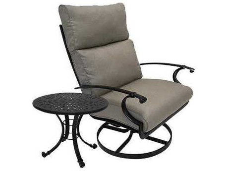 Winston Quick Ship Manor Deep Seating Cast Aluminum 2 Piece Swivel Tilt Lounge Set