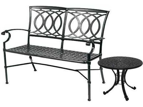 Winston Quick Ship Marseille Cast Aluminum 2 Piece Loveseat Set