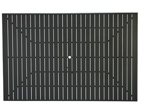 Winston Alternative Slat Extruded Aluminum 91 x 60 Rectangular Top with Umbrella Hole WSMESL090