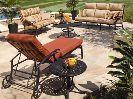 Winston Manor Deep Seating Cast Aluminum Lounge Set