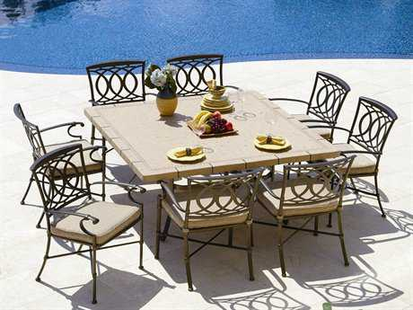 Winston Marseille Cast Aluminum Cushion Dining Set