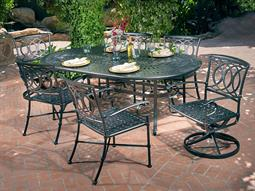 Marselle Quick Ship Cast Aluminum Dining Set