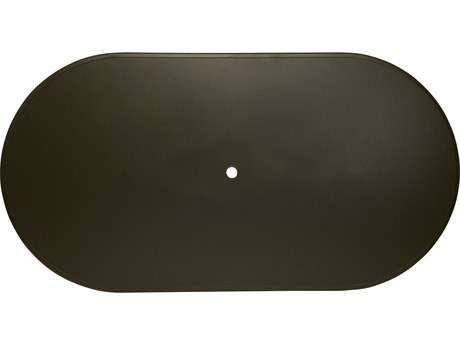 Winston Solid Surface Stamped Aluminum 84 x 44 Oval Table Top with Hole