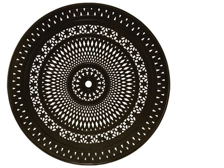 Winston Alternative Cast Aluminum 55'' Round Patterned Top with Umbrella Hole WSMTUS055