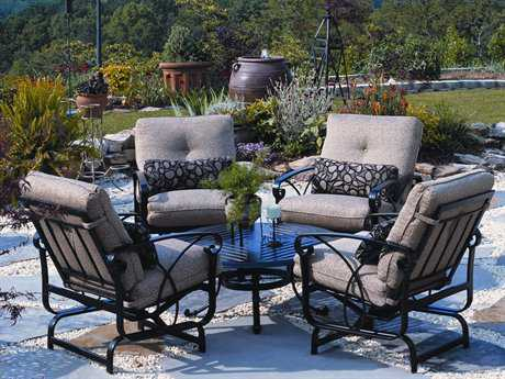 Winston Palazzo Cushion Cast Aluminum Lounge Set