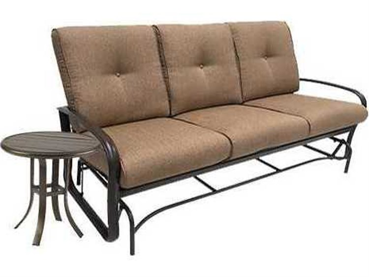 Winston Quick Ship Savoy Cushion Aluminum 2 Piece Sofa Glider Set