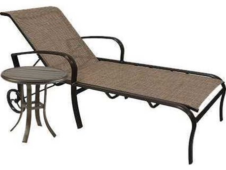 Winston Quick Ship Savoy Sling Aluminum 2 Piece Chaise Lounge Set