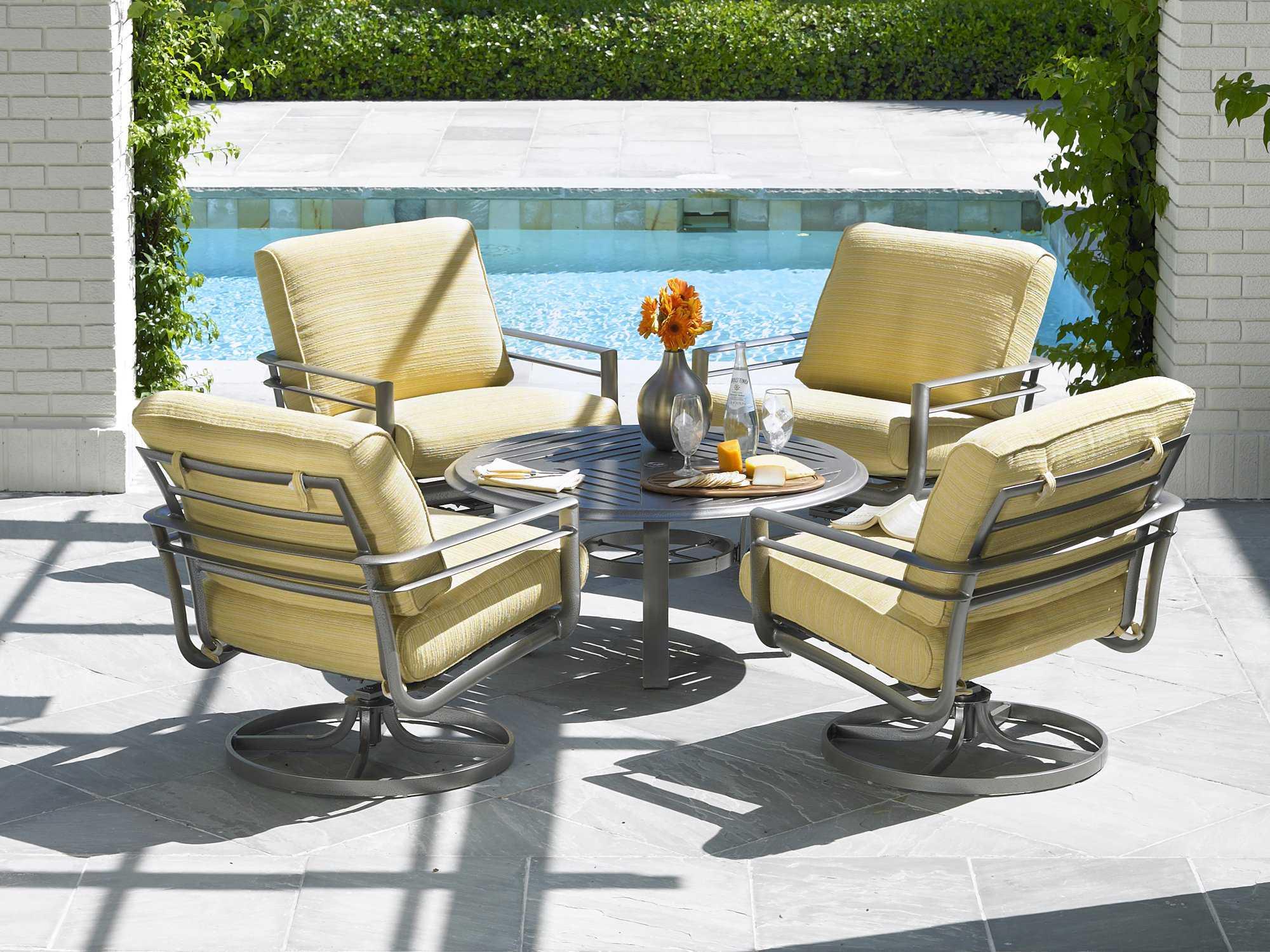 Winston Southern Cay Sling Aluminum Armless Chaise Lounge: Winston Southern Cay Cushion Aluminum Arm Swivel Lounge