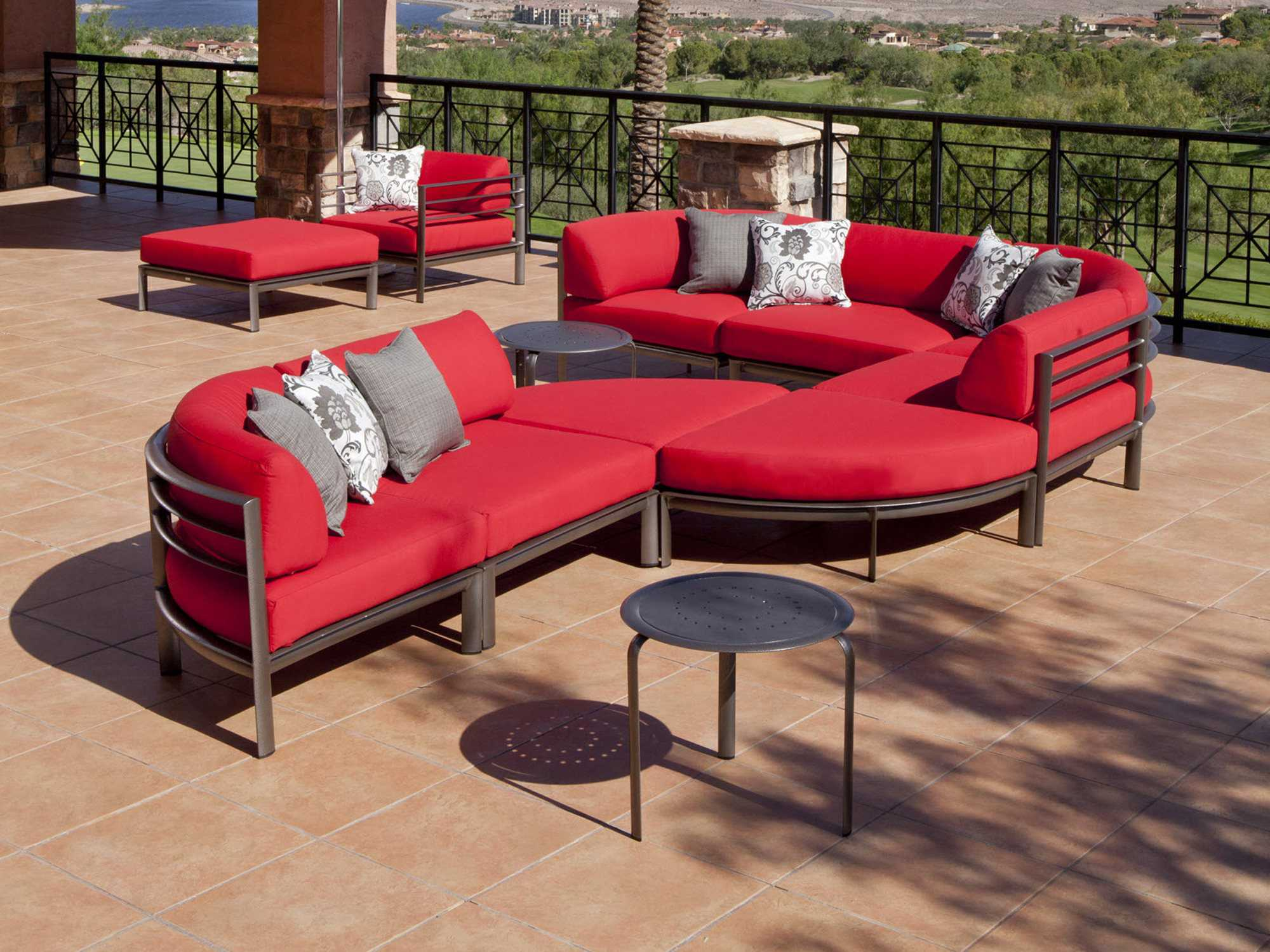 winston southern cay modular aluminum lounge set southernsecset. Black Bedroom Furniture Sets. Home Design Ideas