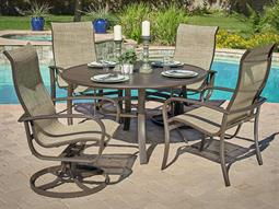 Savoy Sling Quick Ship Aluminum Dining Set