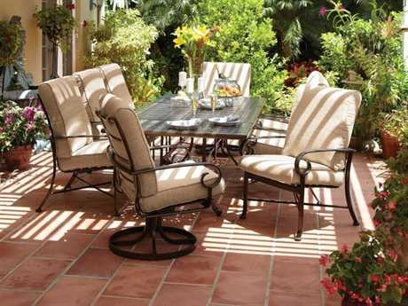 Winston Veneto Cushion Cast Aluminum Conversation Lounge Set