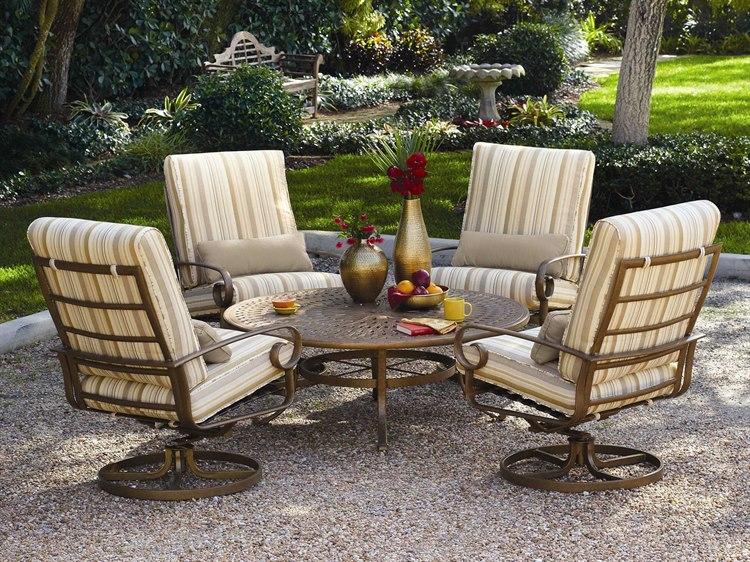 Winston Veneto Cushion Cast Aluminum Conversation Lounge ...