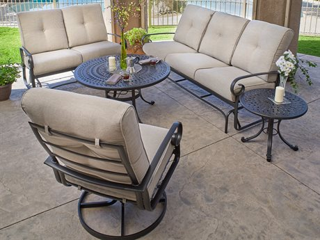 Winston Veneto Cushion Quick Ship Cast Aluminum Lounge Set