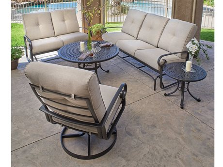 Winston Veneto Cushion Cast Aluminum Lounge Set