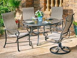 Veneto Sling Quick Ship Cast Aluminum Dining Set