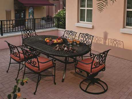 Winston Volterra Cast Aluminum Cushion Dining Set