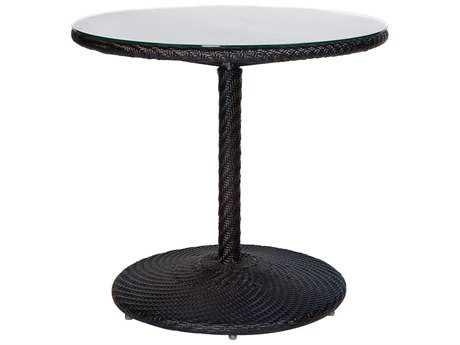 Whitecraft Barlow Wicker 30.30 Round Glass Top Bistro Table