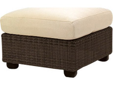 Whitecraft Montecito Coffee Wicker Ottoman