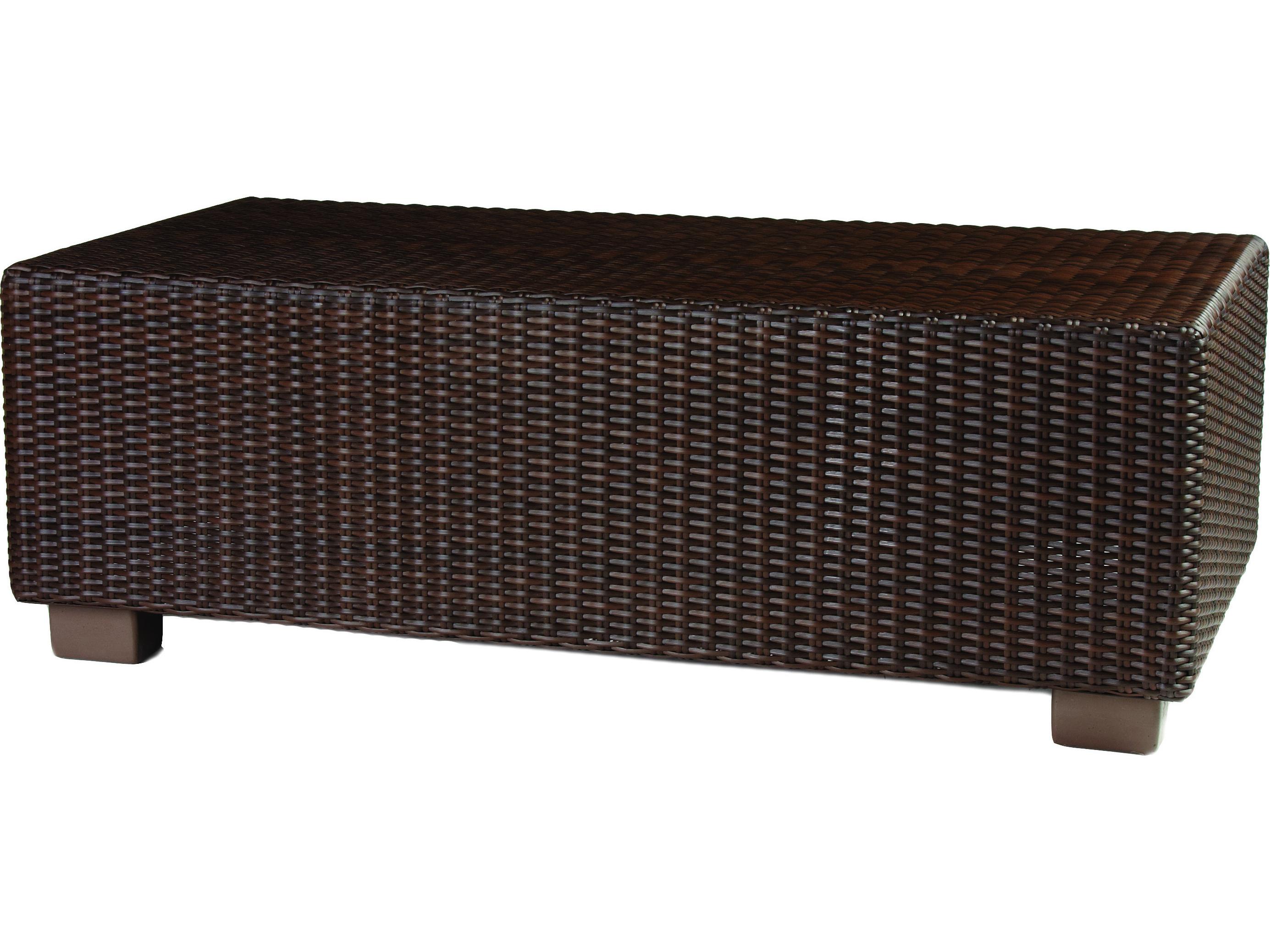 Whitecraft Montecito Wicker 42 X 24 Rectangular Coffee Table S511213