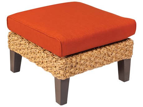 Whitecraft Mona Wicker Ottoman