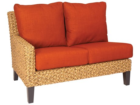 Whitecraft Mona Wicker Left Facing Loveseat Sectional