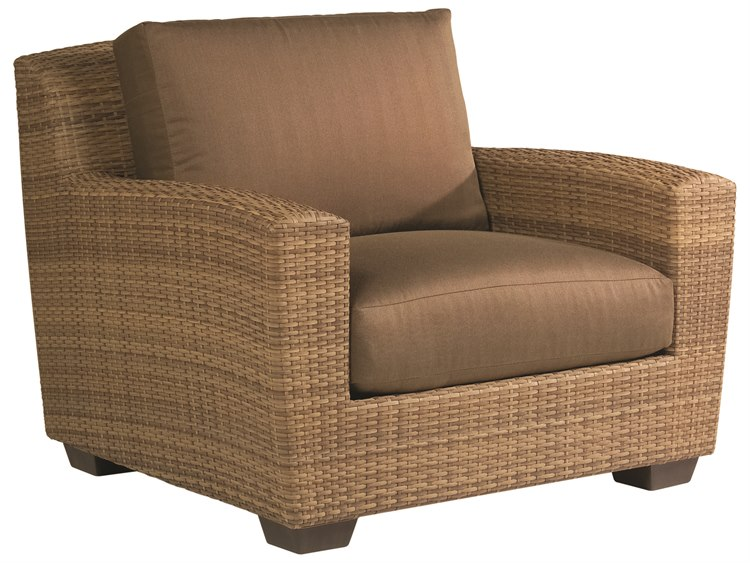 Woodard Whitecraft Saddleback Wicker Lounge Chair