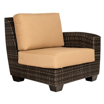 Whitecraft Saddleback Wicker Right Lounge Chair