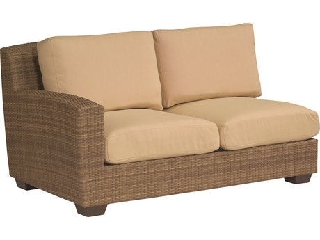 Whitecraft Saddleback Wicker Left Loveseat