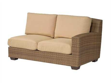 Whitecraft Saddleback Wicker Right Arm Loveseat