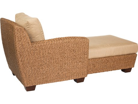 Whitecraft Saddleback Wicker Left Chaise Lounge