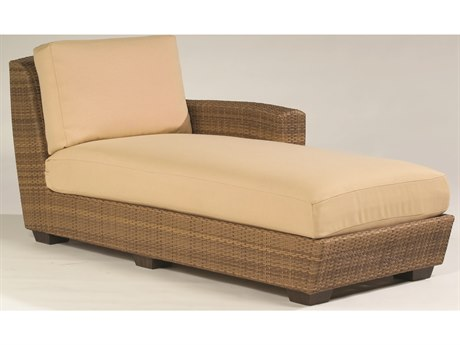 Whitecraft Saddleback Wicker Right Arm Chaise Lounge