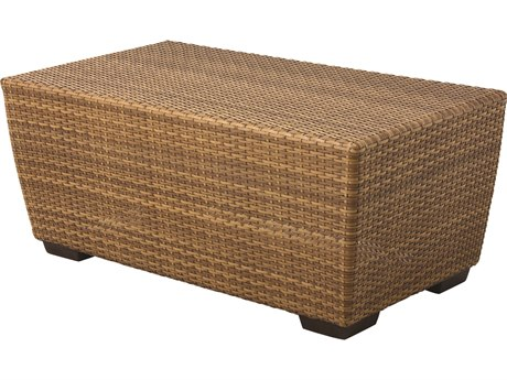 Whitecraft Saddleback Wicker 42 x 24 Rectangular Coffee Table