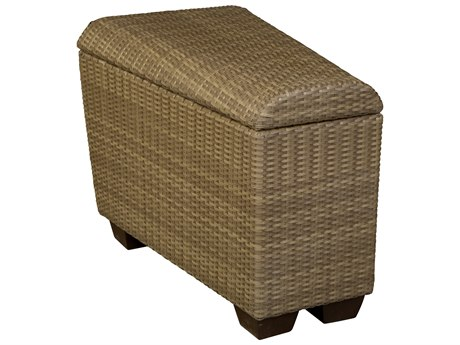 Whitecraft Saddleback Wicker Wedge Unit with Storage