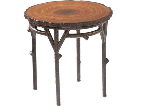 Whitecraft Chatham Run Heartwood 22 Round Faux Top End Table