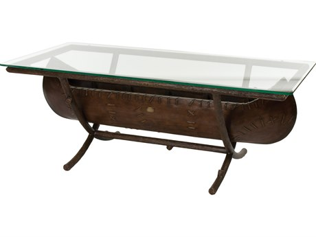 Whitecraft Chatham Run Canoe 54 x 26 Rectangular Glass Top Coffee Table