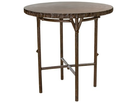 Whitecraft Chatham Run Heartwood 42 Round Faux Wood Bar Table