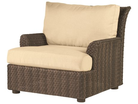 Woodard Whitecraft Aruba Wicker Amazon Mahogany Lounge Chair