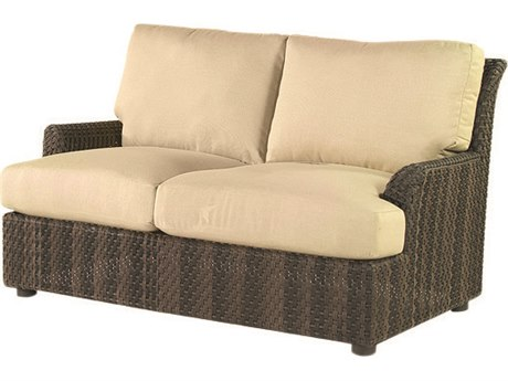 Woodard Whitecraft Aruba Wicker Amazon Mahogany Loveseat