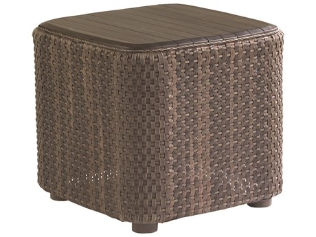 Whitecraft Aruba Wicker 24 Square Teak Top End Table