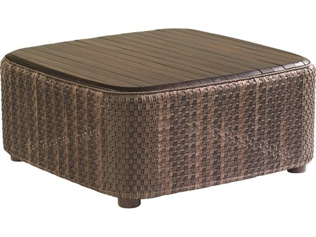 Whitecraft Aruba Wicker 36 Square Teak Top Coffee Table