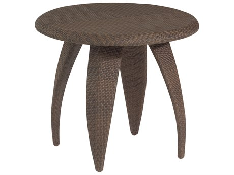 Whitecraft Bali Wicker 27 Round Woven Top End Table