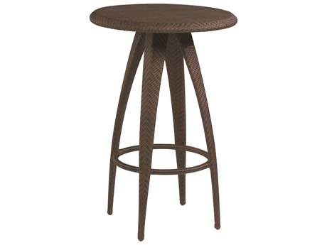 Whitecraft Bali Coffee Wicker 27 Round Woven Top Bar Table
