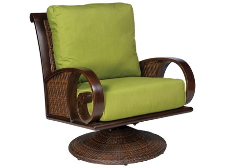 Whitecraft North Shore Wicker Swivel Rocking Lounge Chair