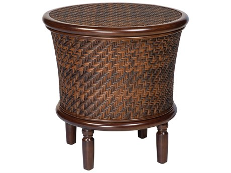 Whitecraft North Shore Wicker 23.75 Round Storage End Table