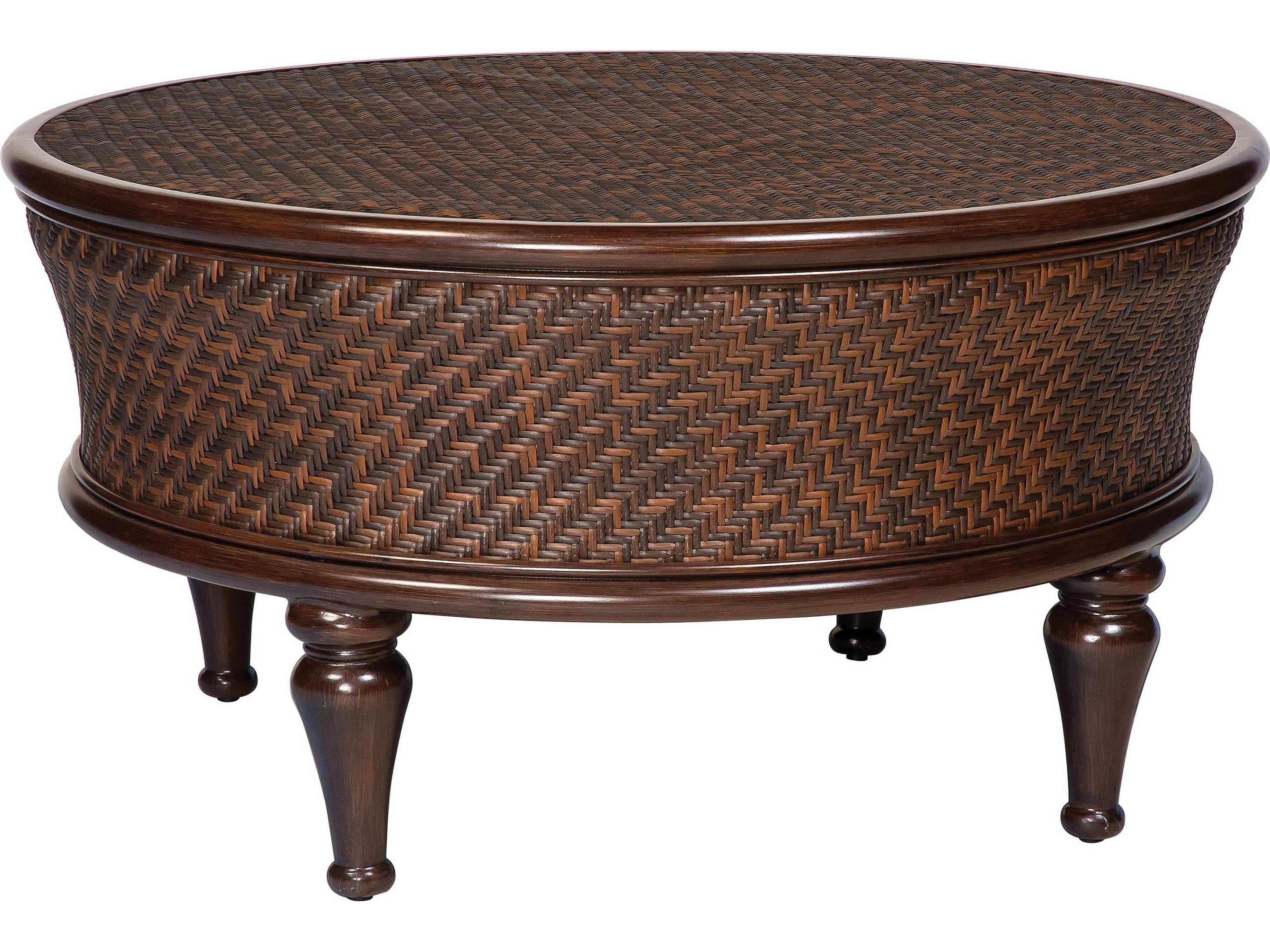 whitecraft north shore wicker 42 5 round storage coffee table s540211. Black Bedroom Furniture Sets. Home Design Ideas