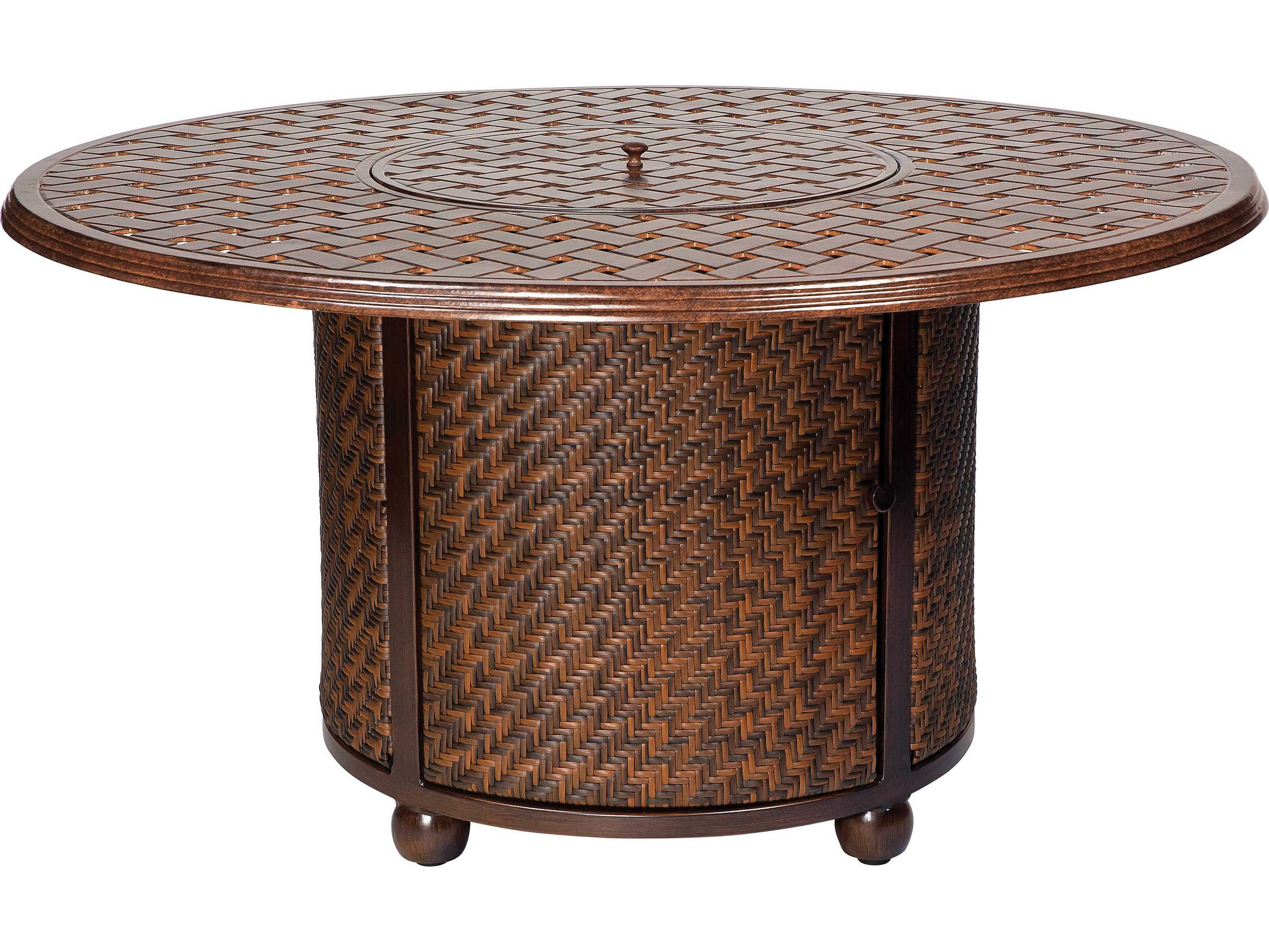 Whitecraft North Shore Wicker Chat Height Fire Table With