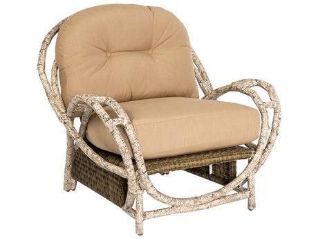 Woodard Whitecraft River Run Wicker Antique Palm Butterfly Lounge Chair